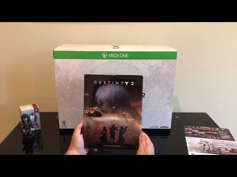 Destiny 2: Collector's Edition Game & Guide - Clyde-6 Figurine & Puzzle - Xbox One - Unboxing