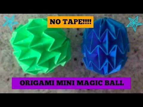 Origami Mini Magic Ball Tutorial - NO TAPE!!! (Designed by Yuri Shumakov)