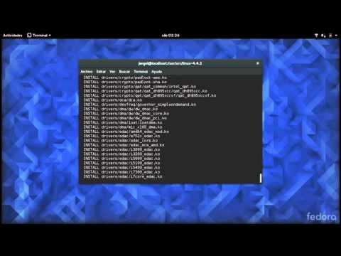 Compilar nucleo linux (en fedora)