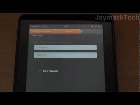 Amazon Kindle Fire Email Setup