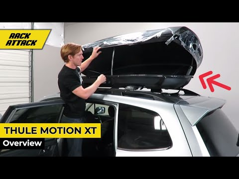 Thule Motion XT Roof Top Luggage Carrier Cargo Box Review and Demonstration