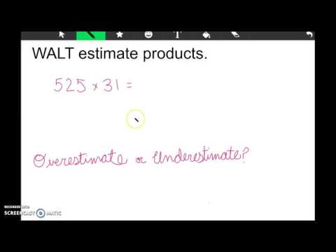 Math 3-2 Estimating Products