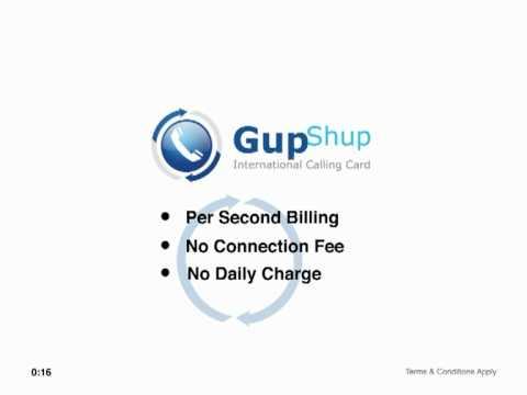 GupShup International Calling Card