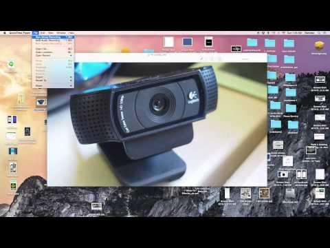 Logitech C920 how to use with mac running Yosemite
