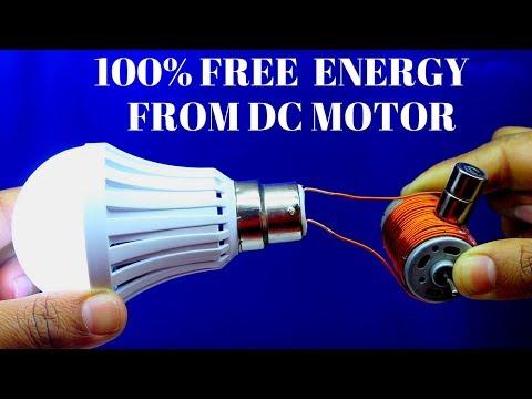 Free Energy Generator Light For Lifetime Using DC Motor - Generator Using Magnet and DC motor 2018