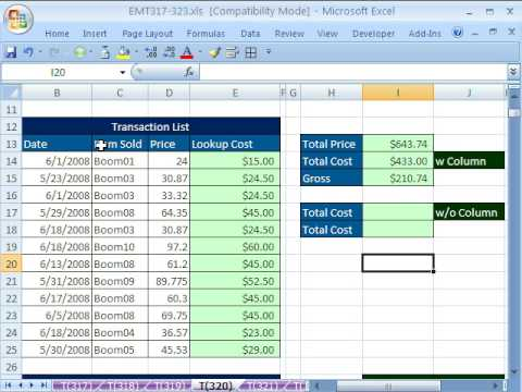 Excel Magic Trick 320: Lookup Adding: SUMPRODUCT & SUMIF
