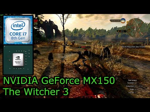 NVIDIA GeForce MX150 - The Witcher 3