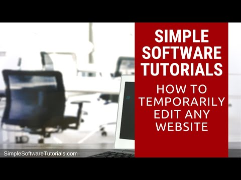 How to Temporarily Edit Any Website