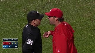 STL@CHC: Matheny, Molina get ejected in the 6th
