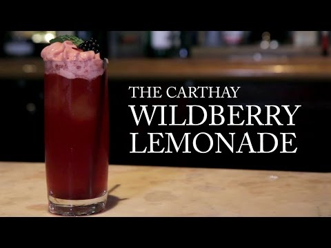 Carthay Circle's Wildberry Lemonade | Disney Parks Mixology School