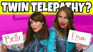 TWIN TELEPATHY CHALLENGE. CAN WE READ MINDS AND ARE WE REAL TWINS? (TOTALLY TV)