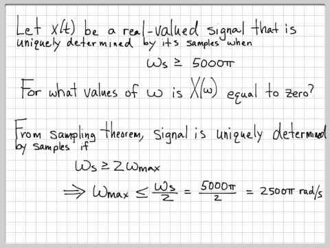 Nyquist Sampling Problem 01