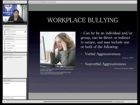 Harassment and Workplace Bullying