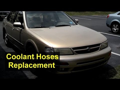 Nissan Maxima radiator, heater and other coolant hose replacement - VOTD