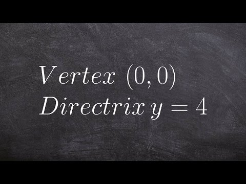 Learn how to write the equation of a parabola given vertex and directrix