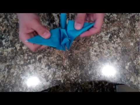 How To Make An Origami Peace Crane (bird base)