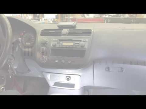 2001-2005 Honda Civic radio removal