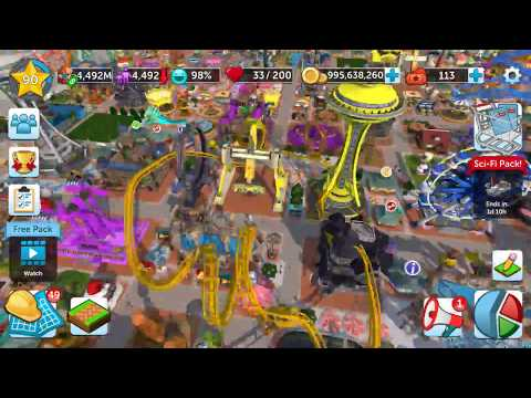 Rollercoaster Tycoon Touch | MILESTONE LEVEL 90 | 200 SUBSCRIBERS THANK YOU