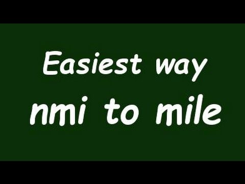 Convert Nautical Mile to Mile (nmi to mile) - Formula, Example, Solution
