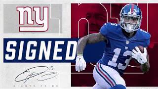 Giants sign OBJ to a contract extension