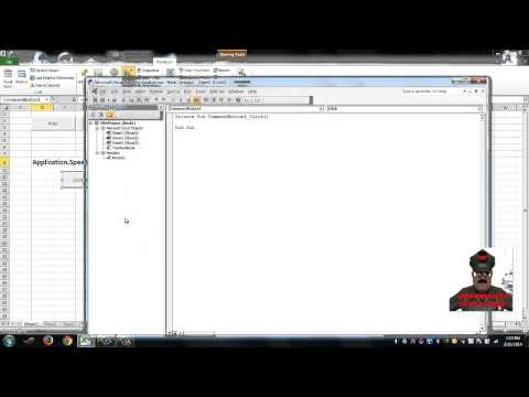 How to make Excel speak