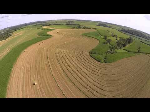 Baling second cutting hay with a White 125 Workhorse Tractor and Vermeer Round Baler