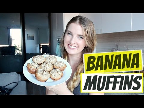 HEALTHY BANANA MUFFINS | No Refined Sugar, Butter Or White Flour