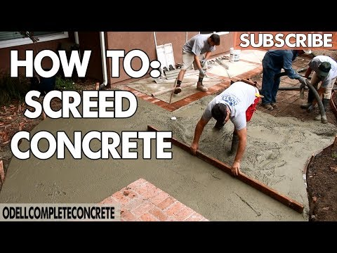 How to Screed Concrete