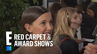 Millie Bobby Brown Inspired by Adele at 2017 Golden Globes | E! Live from the Red Carpet
