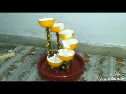 Handmade water fountain ll tabletop fountain ll fountain made by plastic bowls ll