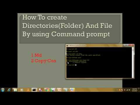How to create file and directories by using command prompt (in hindi)