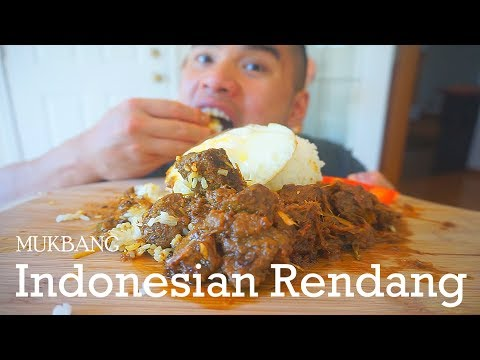 Indonesian Beef Rendang Recipe   MUKBANG   QT