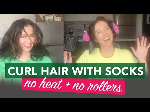How to Curl Your Hair Using Socks Overnight   No Heat Beauty Hack by Jennifer Mac