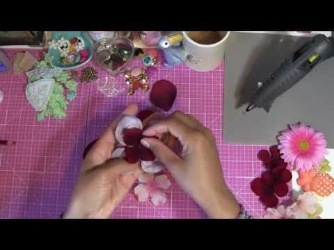 How to Make Prima Flowers - DIY Floral Scrapbook Embellishments