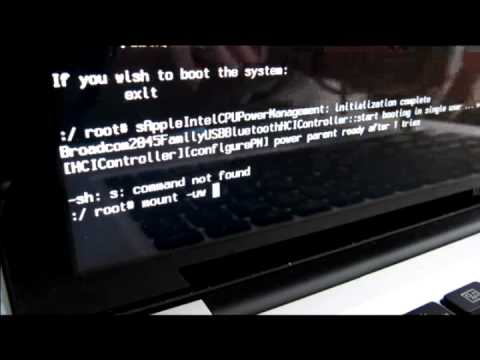 Hack remove reset admin Mac OSx password without cd