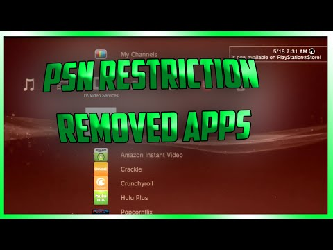 How To Remove PSN Restriction On PS3 Applications -