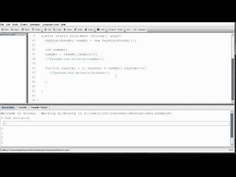 Java - Divisors Program