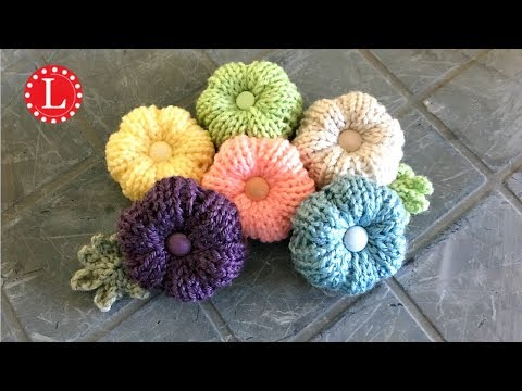 LOOM KNITTING FLOWERS ( Round Loom ) | Strickring | Tejer a Telar | Tricotin | نول