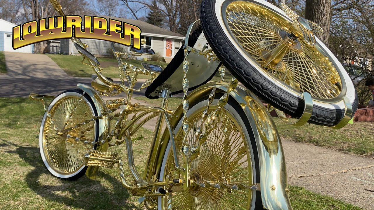 Gold Lowrider Bike