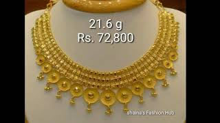 17a46a9cdc6a9 Latest Gold Haram Designs 2018 With Weight | Music Jinni