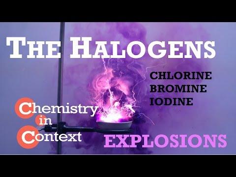 Sodium and Halogens Explosive Reactions!   Chlorine, Bromine, Iodine