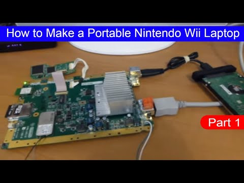 How to Make a Portable Nintendo Wii Handheld Laptop Home made (Part 1)