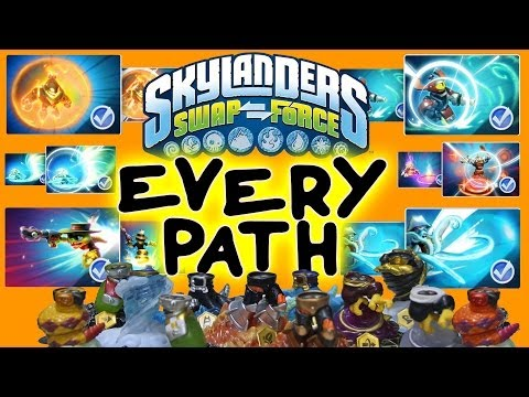 All Skylanders Swap Force Upgrade Paths for Wave 1 Bottoms + Max Money Level