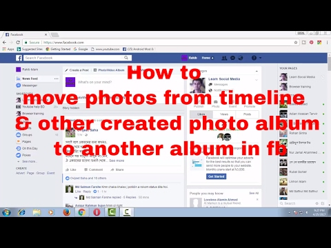 How to Move Photos From Timeline & Other Created Photo Album to Another Album in Facebook FB Tips 70