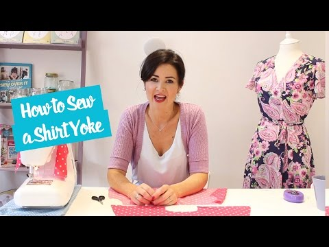 How to Sew a Shirt Yoke | Sewing Tutorial
