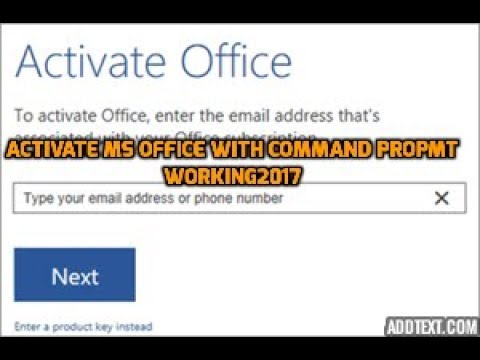 Activate Office 2016