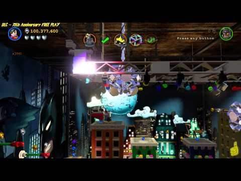 Lego Batman 3 Beyond Gotham: 75th Anniversary (DLC) FREE PLAY (All 10 Minikits) - HTG