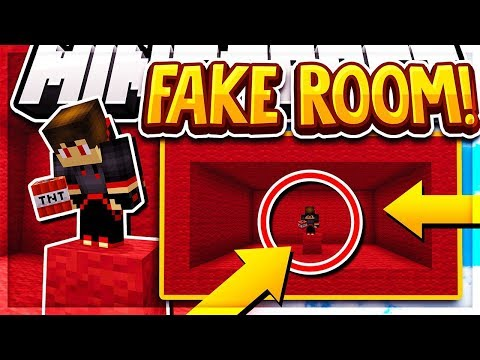 Hiding Inside A FAKE ROOM Hiding Spot! (Minecraft BEDWARS)