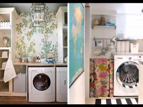 Creative Laundry room wallpaper design ideas
