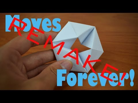 REMAKE: How to Fold an Origami Flexagon 2.0 - Easier and Super Cool!
